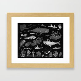 Dangers of the Deep Unknown Framed Art Print