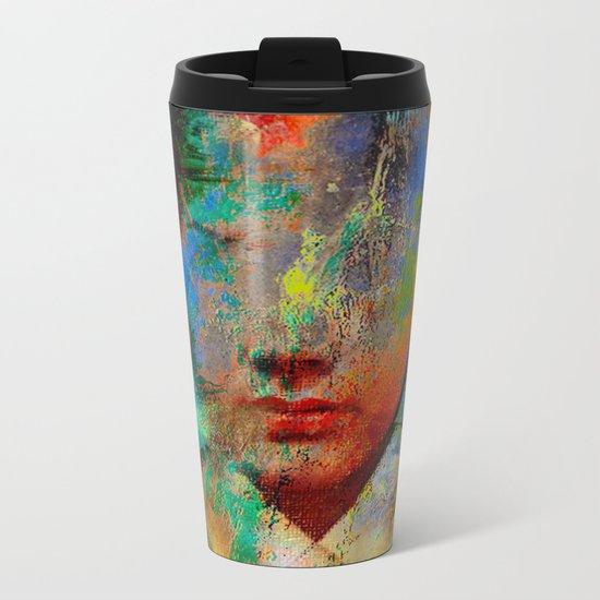 Wonder who ? Metal Travel Mug