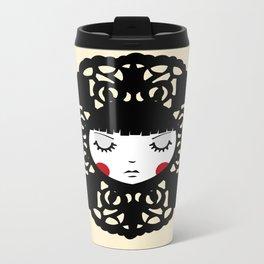 Flower Girl Metal Travel Mug