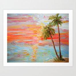 California Coast Sunset Art Print