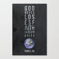 faith Canvas Prints featuring faith by people do.