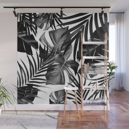 Tropical Jungle Leaves Pattern #10 #tropical #decor #art #society6 Wall Mural