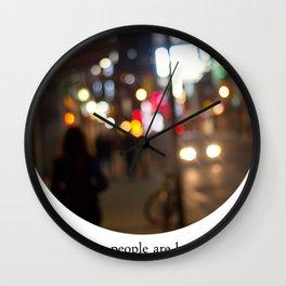 people are beautiful Wall Clock