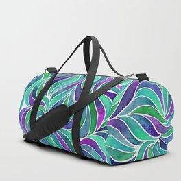 Swirls - Blue Green Duffle Bag