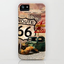 Get your Kicks on Route 66 iPhone Case