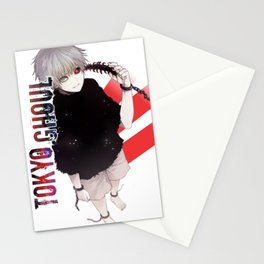 kaneki red stripes and logo Stationery Cards