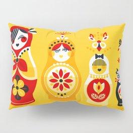 Russian Nesting Dolls – Yellow & Red Pillow Sham
