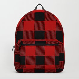 Buffalo Check - black / red Backpack