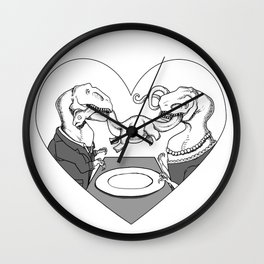Dino Dinner Wall Clock