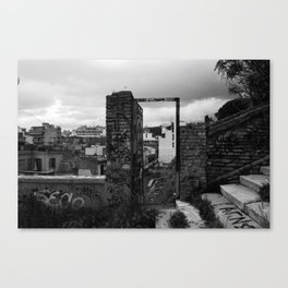 Door to nowhere. Canvas Print