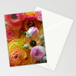 Bunch of Ranunculus Flowers Stationery Cards