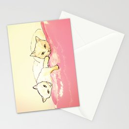 Two Cuddly Cats: Pink Limited Ed Stationery Cards