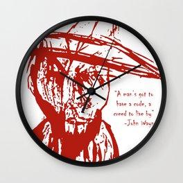 Cowboy Creed Wall Clock