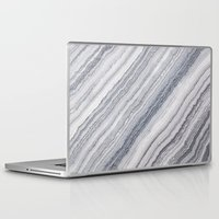 geology Laptop & iPad Skins featuring Grey Marble by Santo Sagese