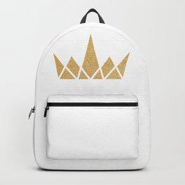 Golden Geometric Shimmering Crown Backpack