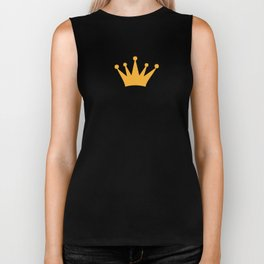 Let me adjust my crown and get my day started Biker Tank