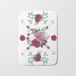 Floral Pattern with Arrows Bath Mat
