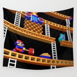 Inside Donkey Kong stage 2 Wall Tapestry