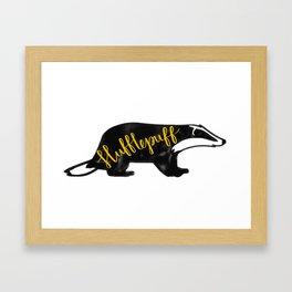 Hufflepuff Badger Framed Art Print