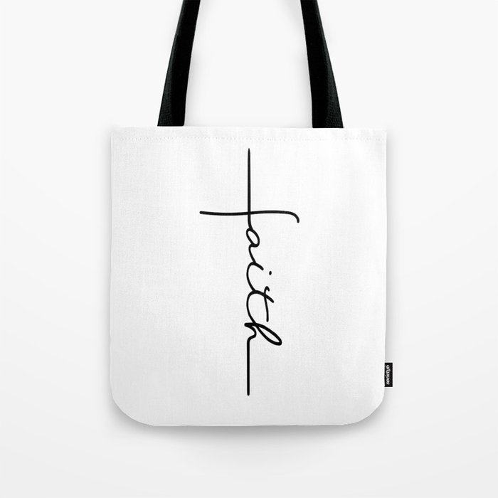 Faith Cross Tote Bag