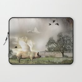 Pig with Wings Laptop Sleeve