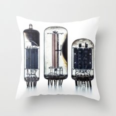 Vintage  Vacuum Tubes Throw Pillow