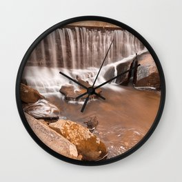 Rustic Rock Run Falls Wall Clock