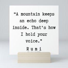 44  | Rumi Quotes  | 190921 Mini Art Print