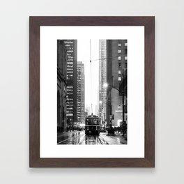 Memories of a streetcar street photography Toronto Downtown Framed Art Print