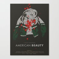american beauty Canvas Prints featuring american beauty by Kris L