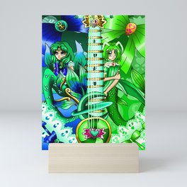 Sailor Mew Guitar #52 - Sailor Neptune & Mew Retasu Mini Art Print