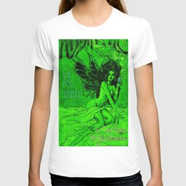 Vintage Parisian Green Fairy Absinthe Advertisement Poster T-shirt