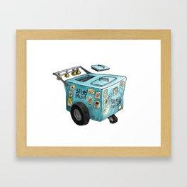 Blue Paletero Ice Cream Cart Framed Art Print