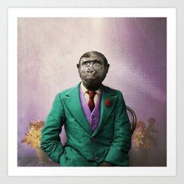 Bradley was a Young Gorilla with BIG Dreams Art Print