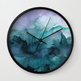 Dream away abstract watercolor Wall Clock