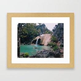 Turner falls Framed Art Print