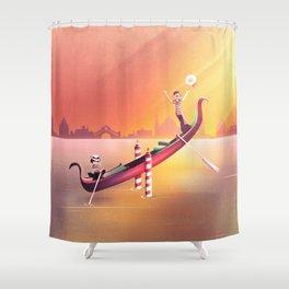 Venice Seesaw Shower Curtain