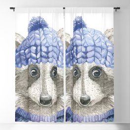 Raccoon face Blackout Curtain