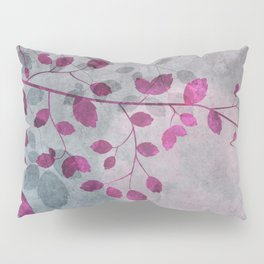 Pink Moon and leaf illustration Pillow Sham