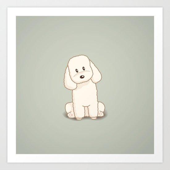 Toy Poodle Dog Illustration Art Print