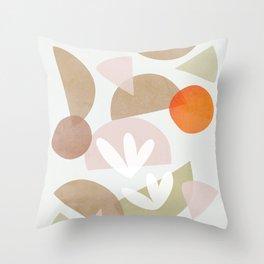 Minimal Autumnal Dance 1 Throw Pillow