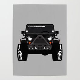 [JEEP] BLACK +GREY BG Poster