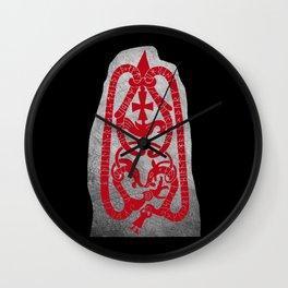 Swedish viking runestone Wall Clock