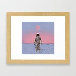 Pink Square Framed Art Print