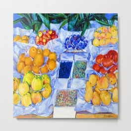 Gustave Caillebotte Fruit Stand Metal Print