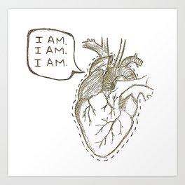 The Brag of My Heart Art Print