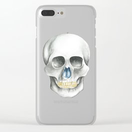 Skull Black and White Clear iPhone Case