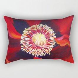 Big Red Poppy Rectangular Pillow