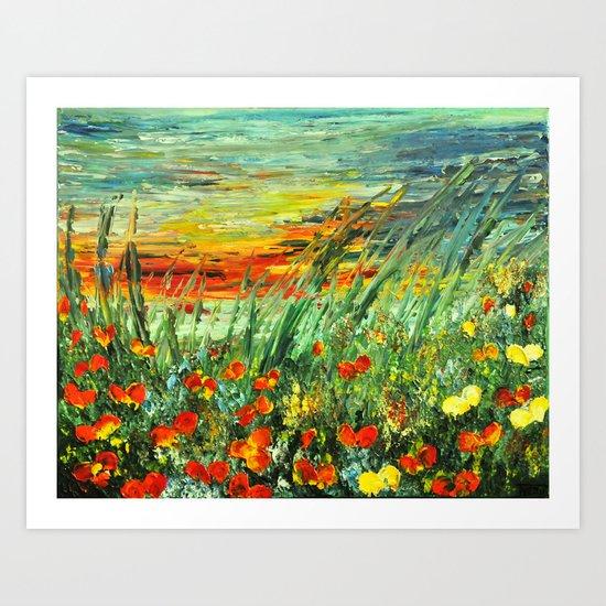SUNSET MEADOW SERIES Art Print