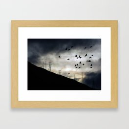 Flying high in Arrochar Framed Art Print